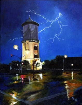 Fresno Water Tower by Ma Ly_Fresno California